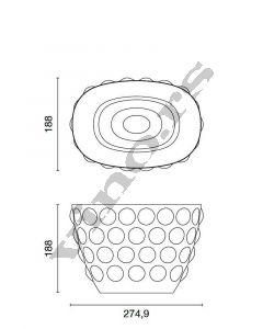 Italesse kibla od stakla Bolle Bucket Clear Singolo