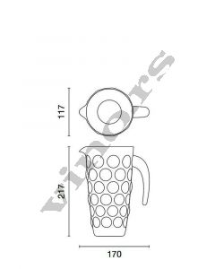 Italesse bokal od stakla Bolle Pitcher 1200 cc