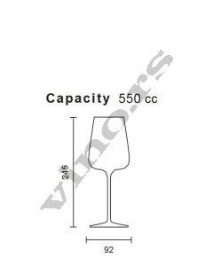 Italesse čaša za vino Etoile Noir (crystalline) 570 cc