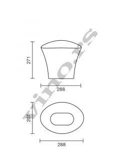 Italesse kibla acrylic Vela Bucket Clear Singolo