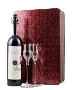 Poli Distillerie Grappa di Sassicaia + 2 čaše (Poklon pakovanje)